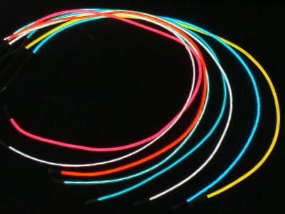 Leuchtschnur, Elektro-Leucht-Schnur, elektrische Schnur ...